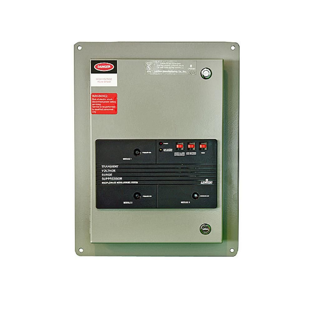 Leviton 240 Volt 3 Phase Delta Surge Panel With Replaceable Surge Modules In Gray Gadget World Home Depot Latest Gadgets