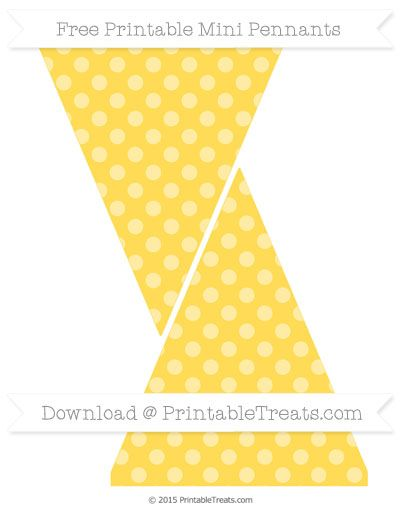 Free Mustard Yellow Dotted Pattern Simple Mini Pennants Bee