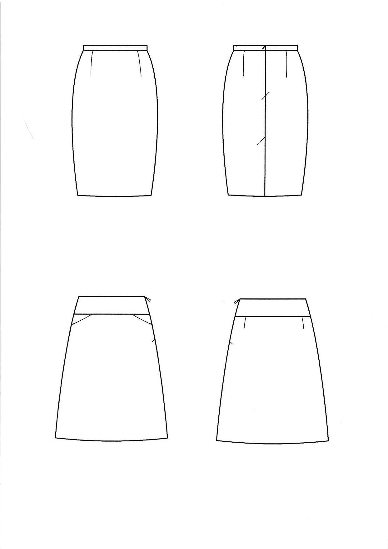 Technical Drawing Skirt Illustration Drawings Pattern Making