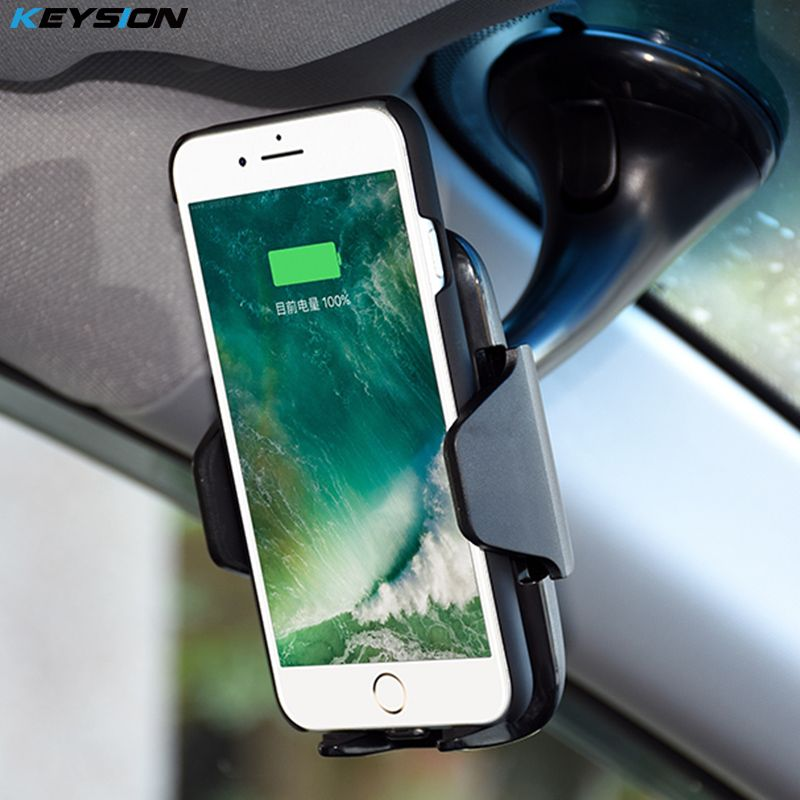the best KEYSION 10.8W Fast Charger Qi Wireless Car Charger