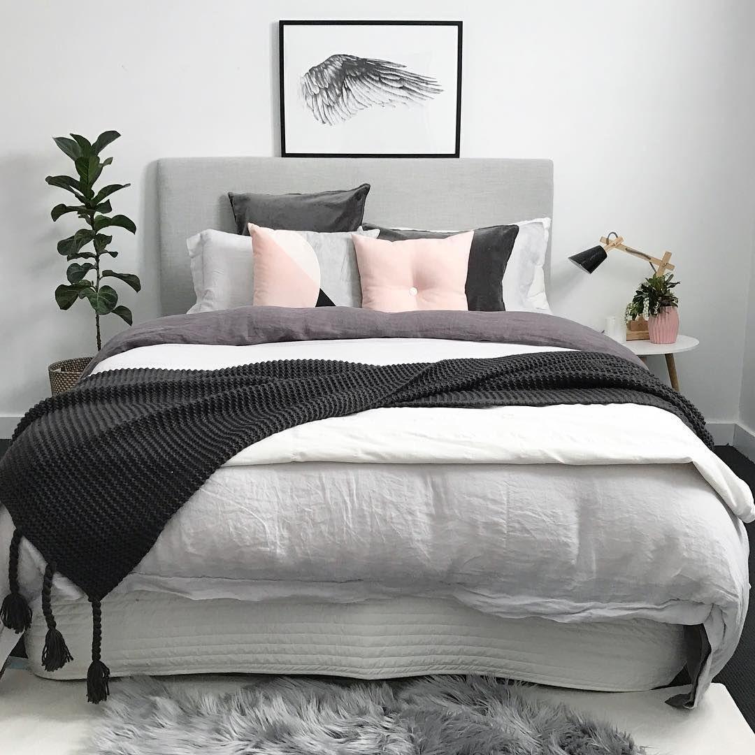 Картинки по запросу gray and blush bedding