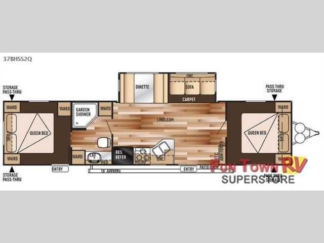 2009 Salem Travel Trailer Floor Plans