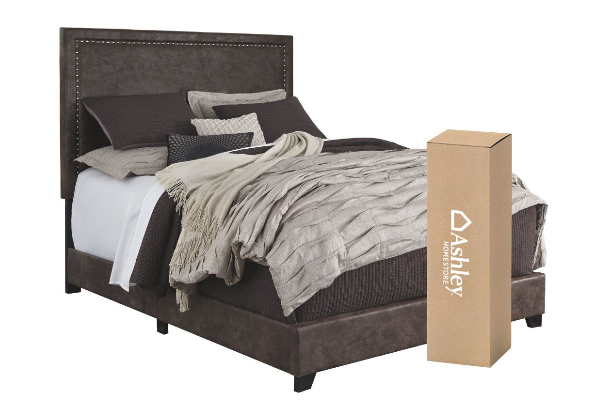 """Dolante Queen Upholstered Bed with 10"""" Memory Foam"""