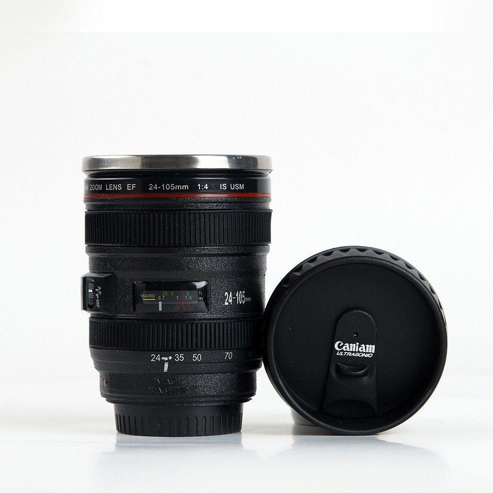 Camera Steel Slr Stainless 105mm Coffee Ef24 Lens Mug D2eW9YbHEI