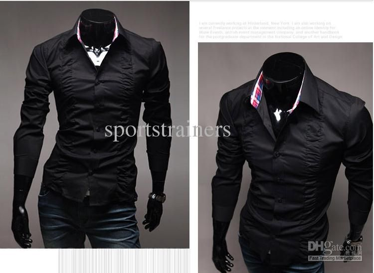 ew fashion drape shirts men shirt business shirts cool shirt ...