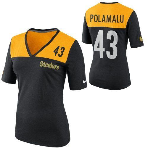 f71be64e Nike Troy Polamalu Pittsburgh Steelers Ladies My Player Top Tri ...