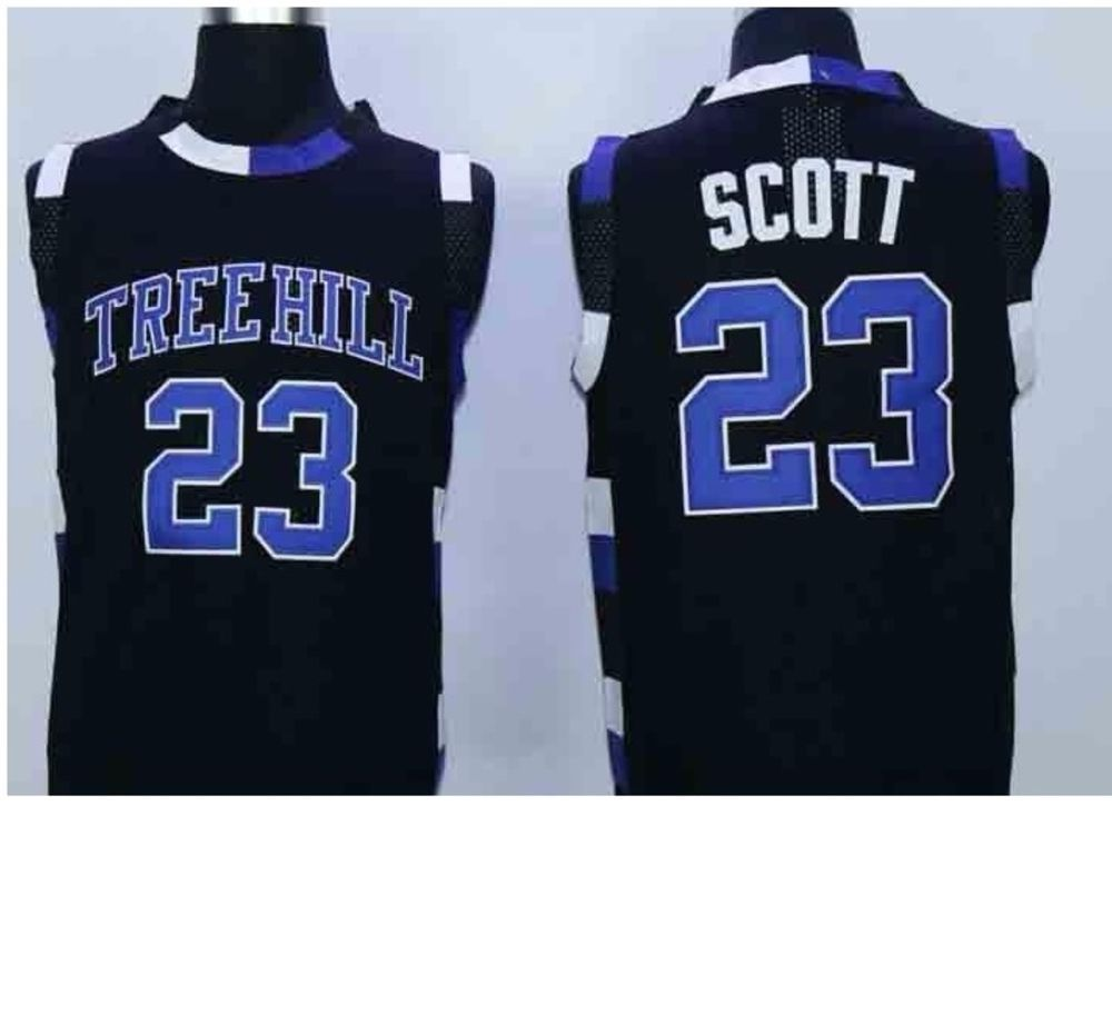 c33bbfd8 Details about Nathan Scott One Tree Hill Ravens 23 Jersey Black ...