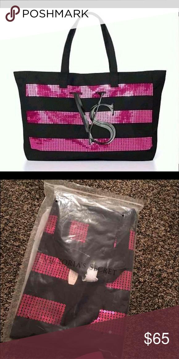 Victoria's Secret bag tote Bling sequin PINK Victoria's Secret Bags Cosmetic Bags & Cases