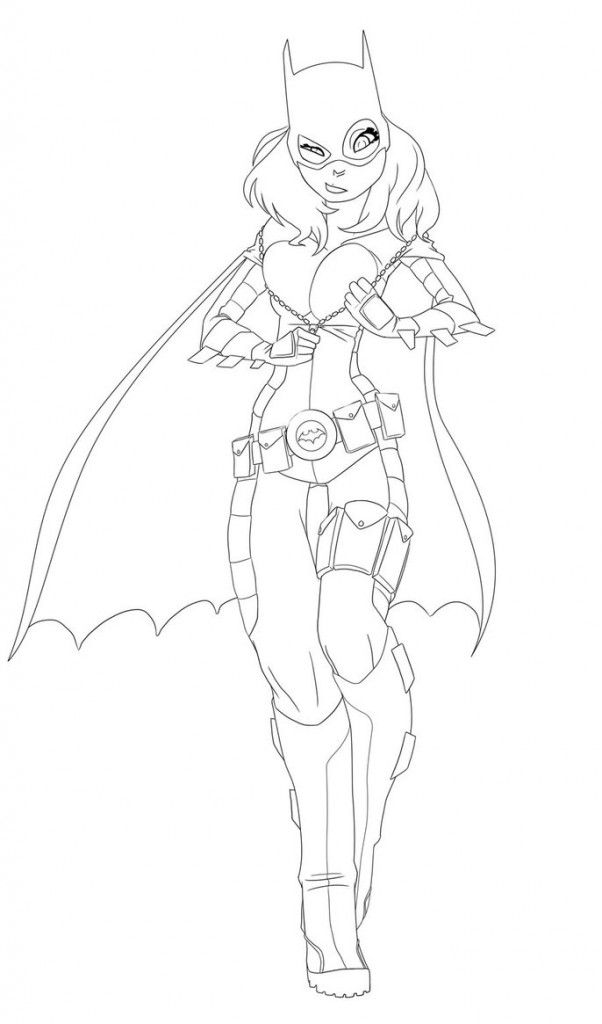 batgirl coloring pages photos