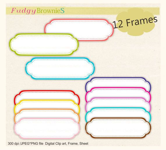 frame clip art , digital clipart , Digital frame, Long Frames ...