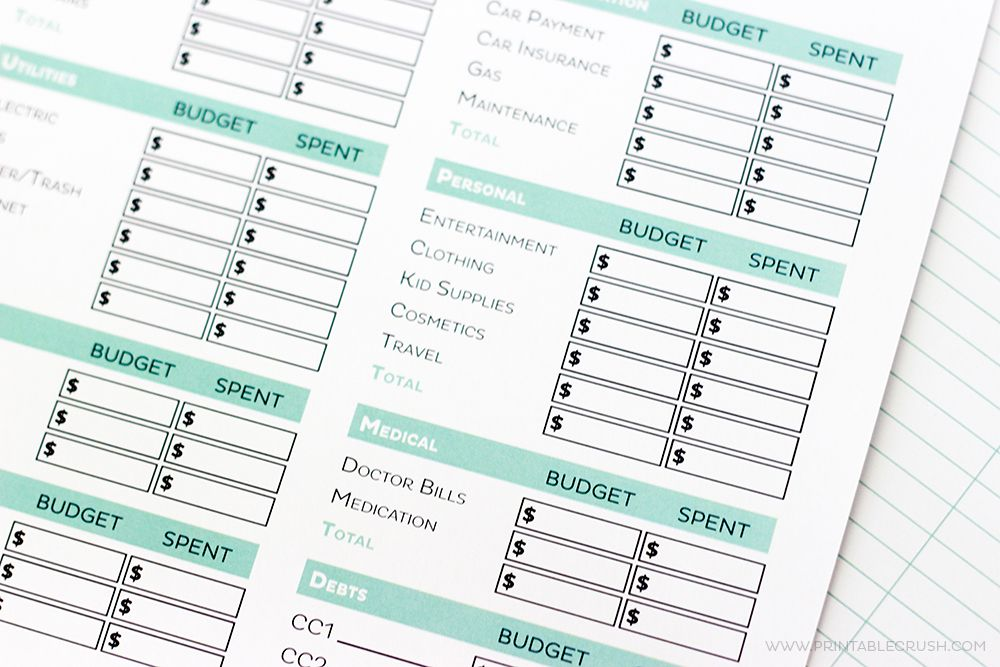 Get your finances in order with these Simple FREE Printable Budget