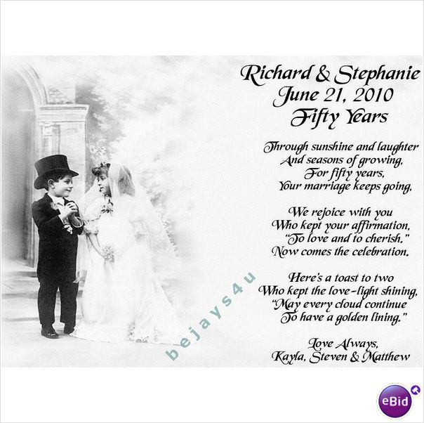 50th wedding anniversary poems 50th wedding anniversary personalised poem gift on ebid united
