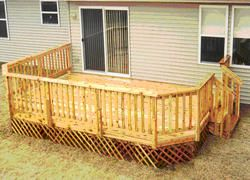 12 X 16 Deck W Lattice Apron Pergola Ideas For Patio Deck Outdoor Deck