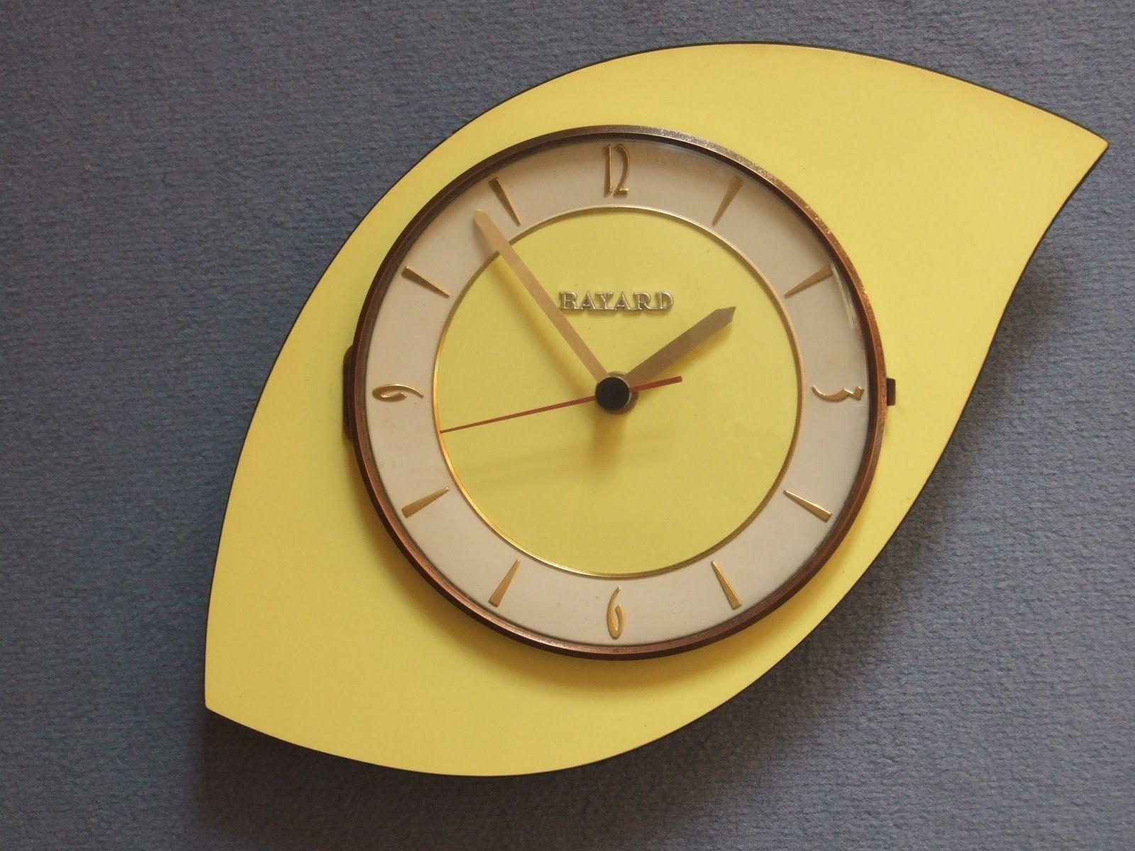 Pendule bayard des ann es 60 formica in art antiquit s meubles d coration xx me design du - Pendule de cuisine ...
