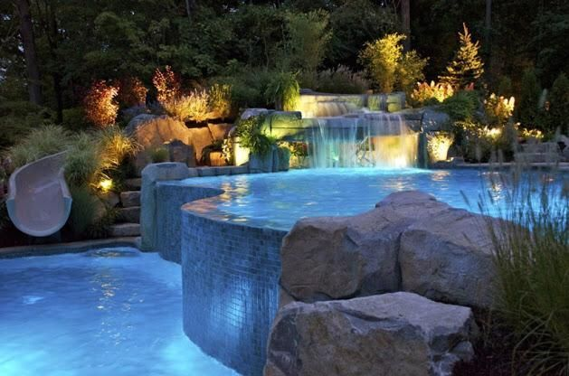 Billionaire On Twitter Swimming Pools Backyard Luxury Swimming Pools Swimming Pool Waterfall