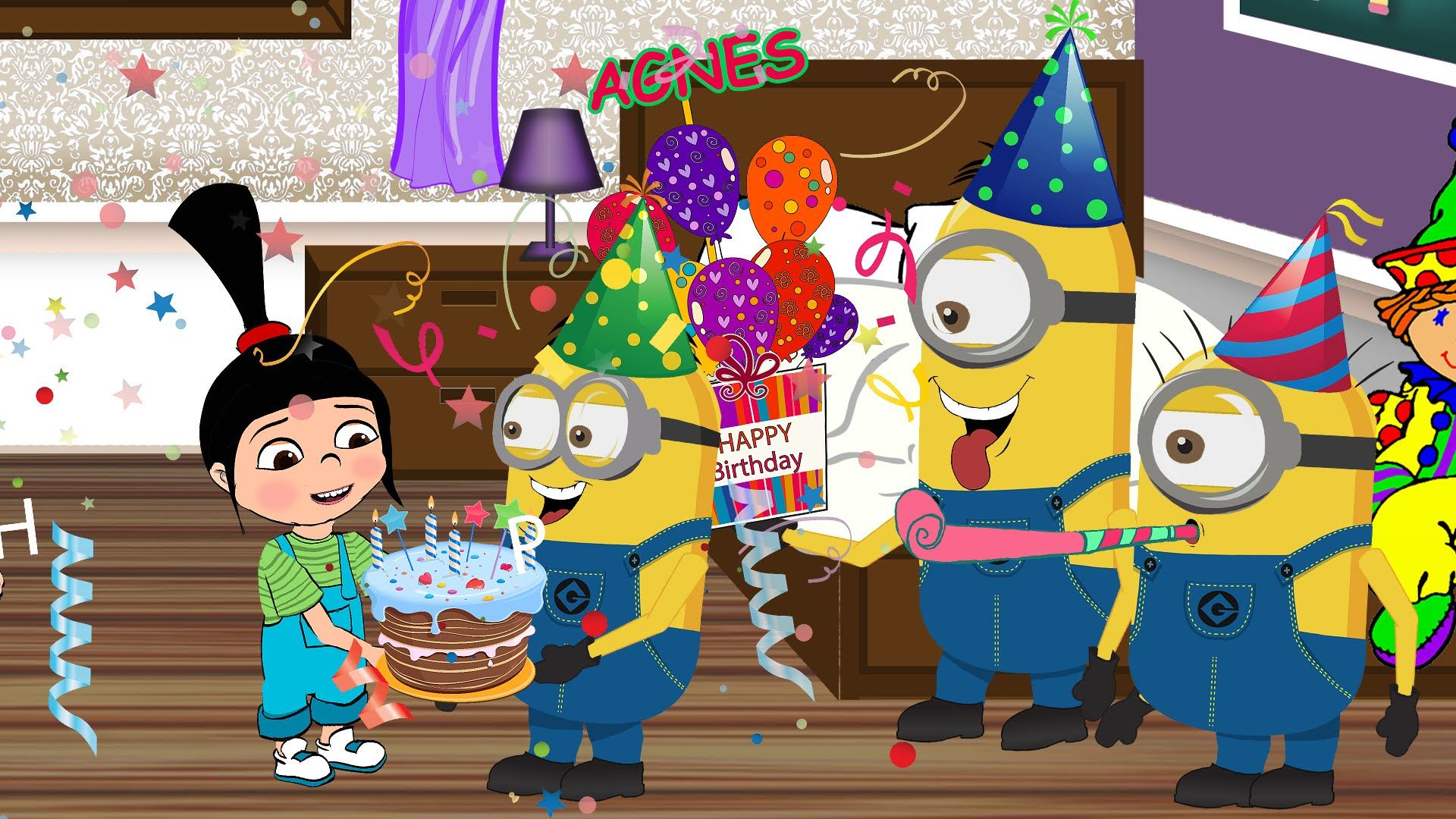 Minions Happy Birthday Song Agnes Despicable me Birthday Party