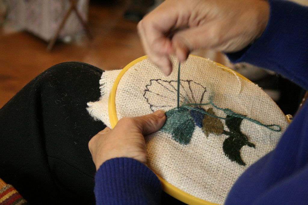 Traditional Colcha Flower Creating Colcha Embroidery Pinterest