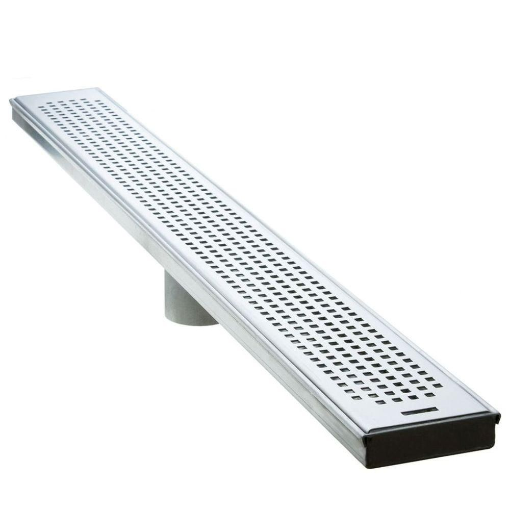 Luxe 60 In Stainless Steel Linear Shower Drain Squares Sp 60