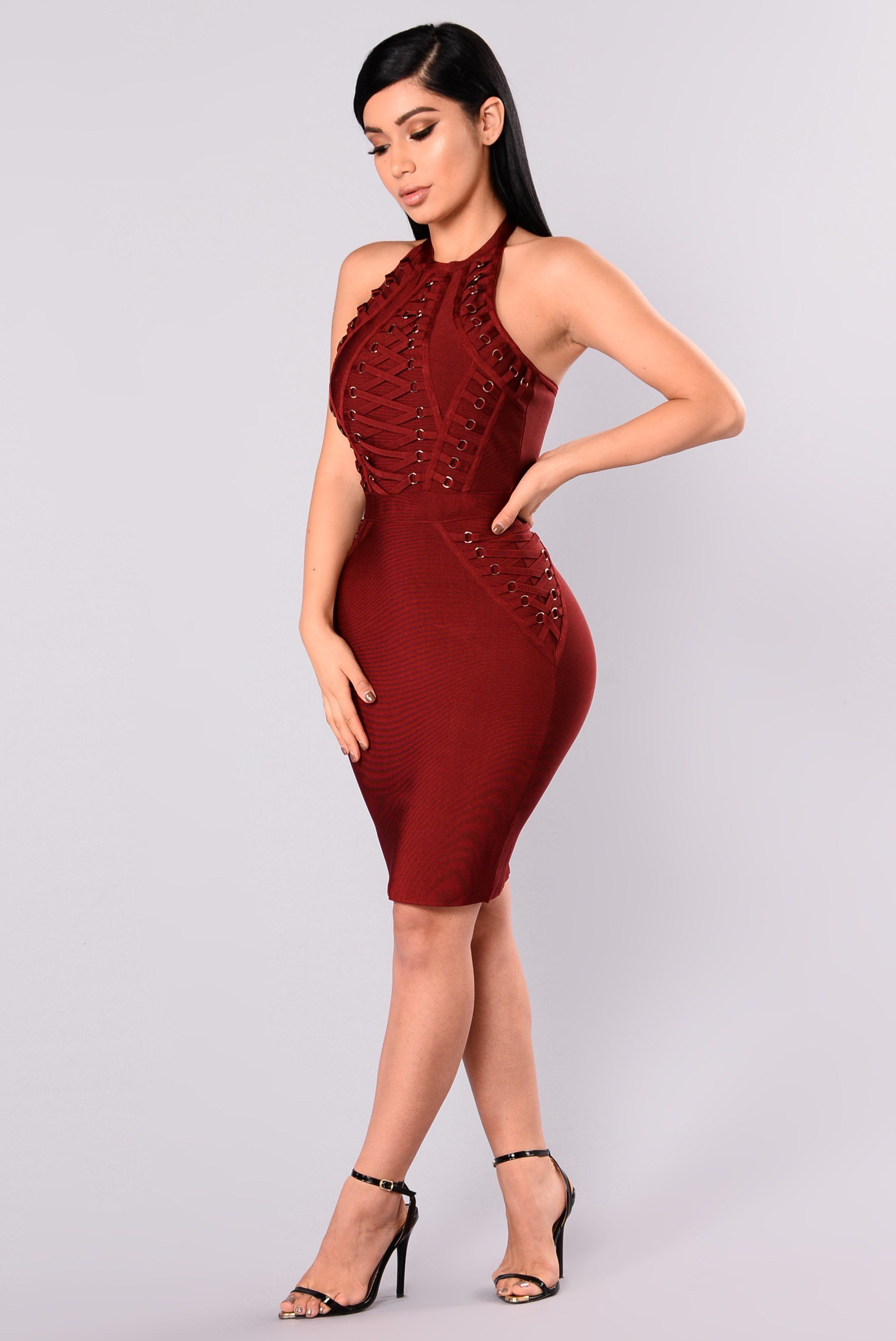 d50df0391b32 Peggy Bandage Dress - Burgundy in 2019 | Fashion Nova | Dresses ...