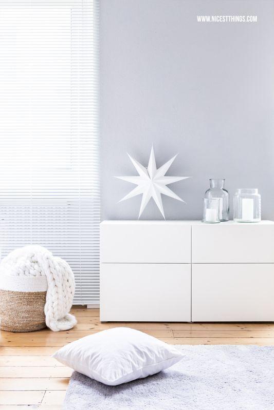 Winter Deko: Sternbild-Wallpaper, Wäscheparfum und Chunky Knit Decke ...