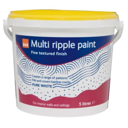 BQ Multi ripple Pure white Textured Special effect paint 5L