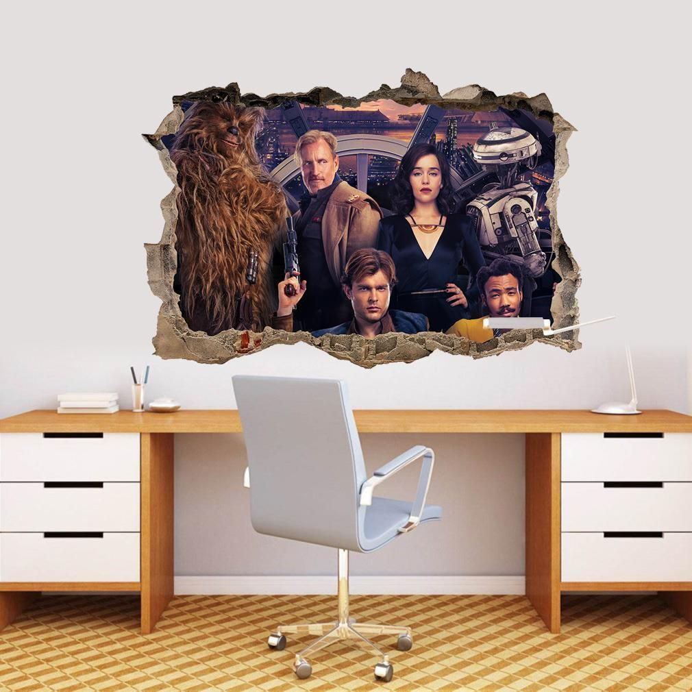 Star Wars Typographic Chewbacca Peel And Stick Giant Wall Decal Wall Decal Allposters Com