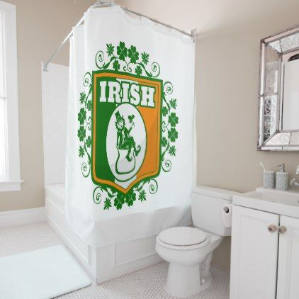 St Patricks Day Leprechaun Gold Shower Curtain Zazzle Com Gold