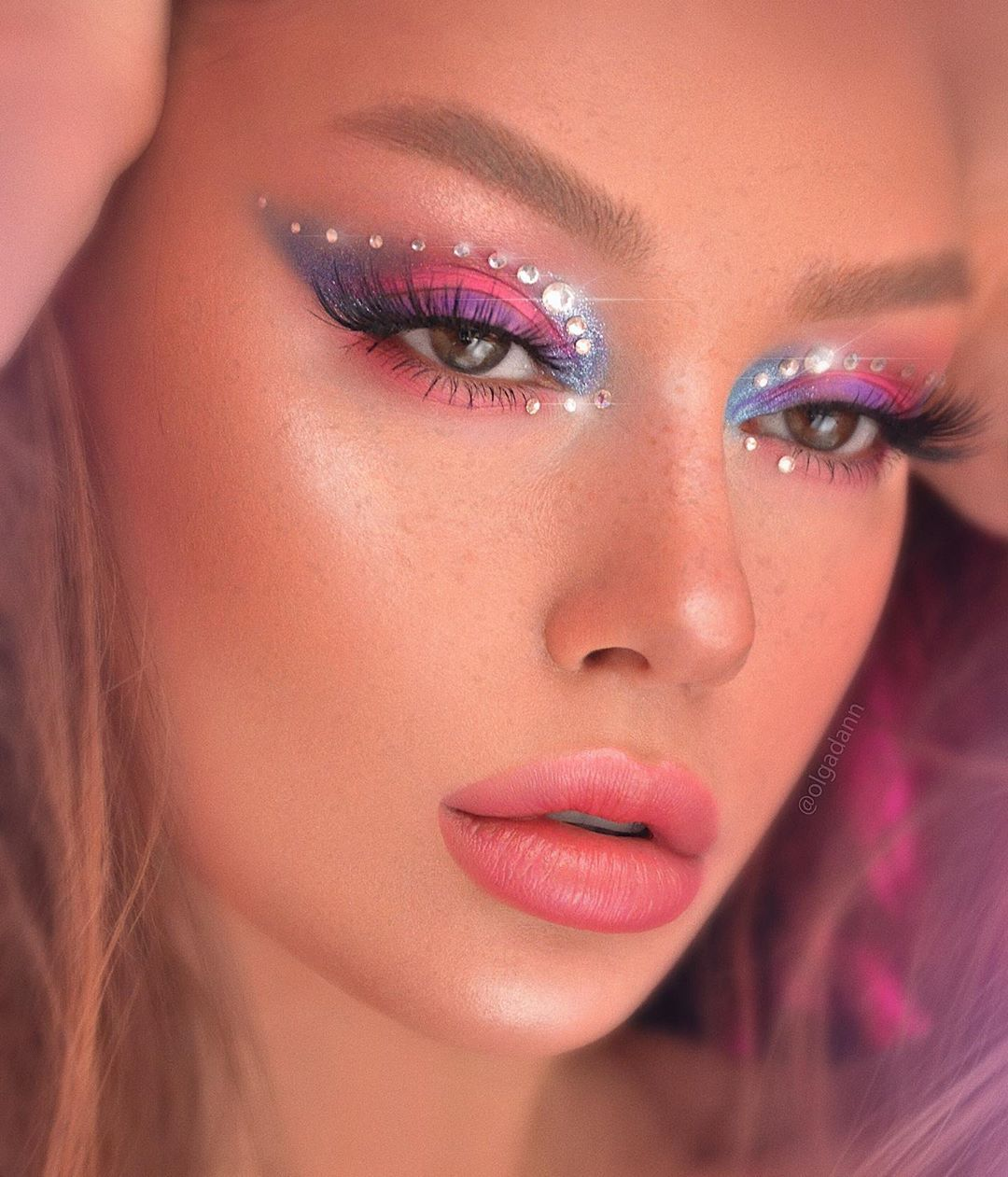 Beauty Makeup Photo Retouch On Instagram It S All About Me Mecosmetics Used Moodeditingcosmetics Moode Rave Makeup Makeup Looks Rhinestone Makeup