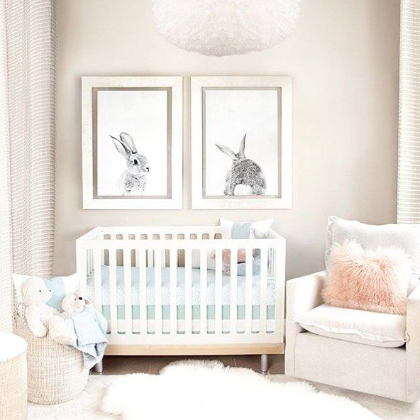 Adorable And Simple Nursery Decor Idea The Oversized Bunny Prints Just Set Off Whole