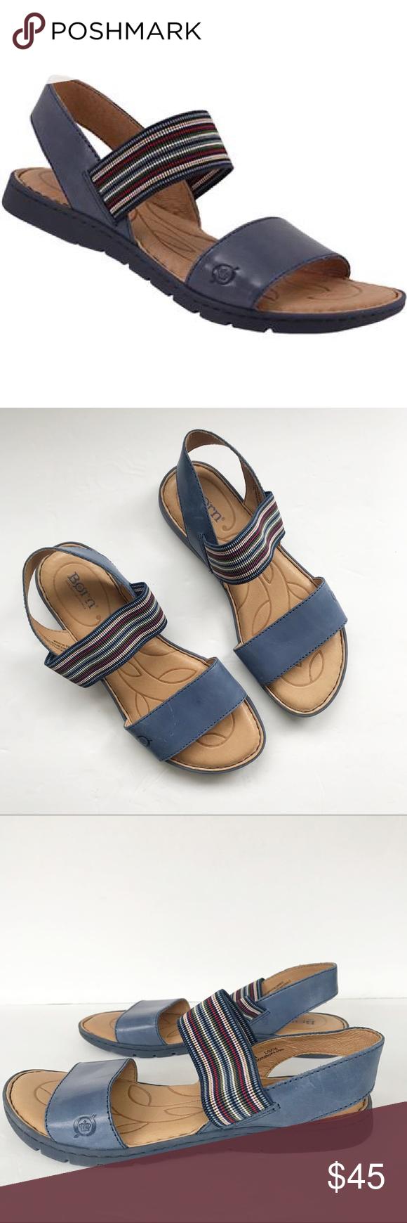 82b68735a429 Born Parson Blue Ankle Strap Sandal Sz. 8M Born Parson blue ankle strap  sandals in