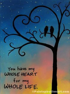 Canvas Art Ideas Acrylics - Canvas Painting You Have My Whole Heart Love by Paintspiration #acryl #canvasartideasacrylicsawesome #canvasartideasacrylicsbeautiful #canvasartideasacrylicsinspirationeasydiy #canvasartideasacrylicsvalentinesday