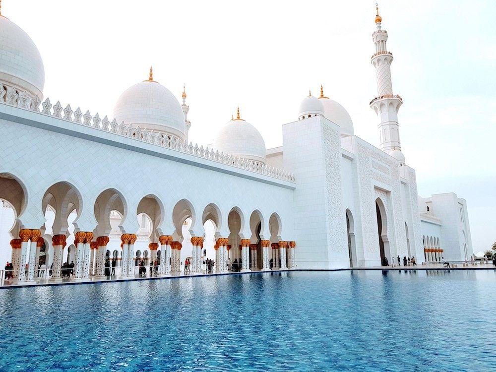 Scheich Zayid Moschee Abu Dhabi Besichtigung Moschee Abu Dhabi