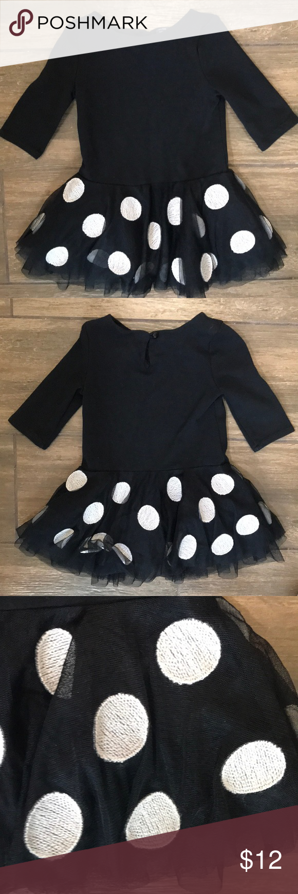 Gap Black White Tulle Polkadotted Dress In 2t White Tulle Clothes Design Gap Dress [ 1740 x 580 Pixel ]