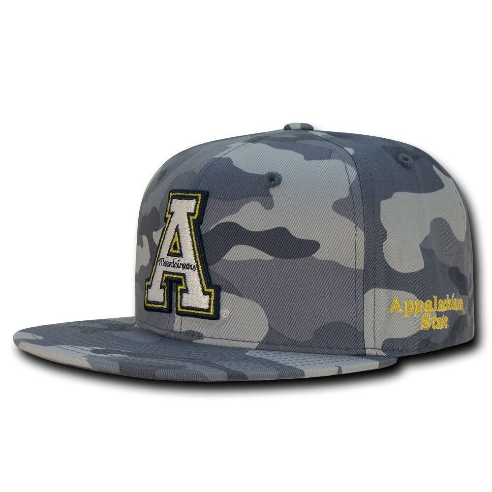 91edf488711 NCAA Appalachian State Mountaineers Camo Camouflage Snapback Baseball Caps  Hats