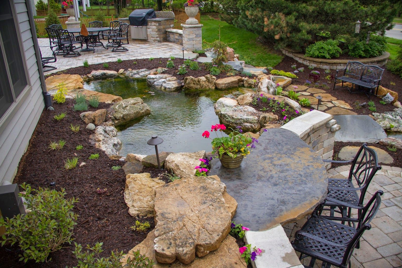 Who Doesn't Want the Perfect Backyard | Backyard, Pond and Gardens on outdoor fire ideas, backyard fire places, backyard fire friends, deck fire ideas, barn fire ideas, backyard fire designs, backyard fire pit, backyard fire art, halloween fire ideas, wall fire ideas,