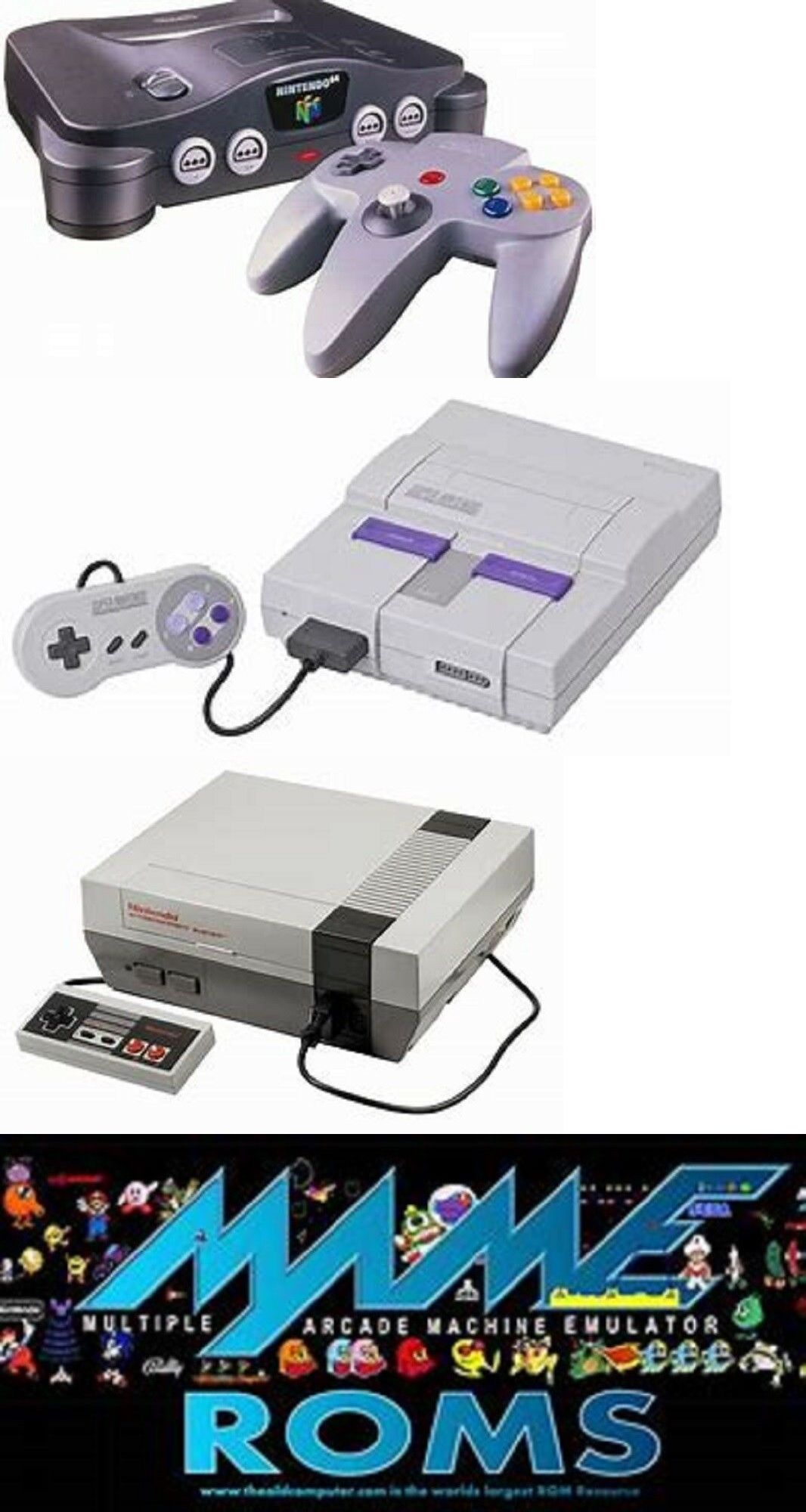 Other Video Game Accessories 49230: Nintendo Consoles Retro