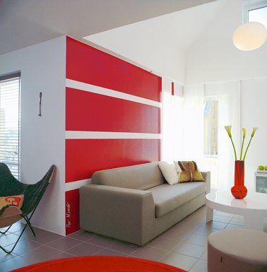 30 Idées peinture salon aux couleurs tendance Deco salon, Vase and - deco salon rouge et blanc
