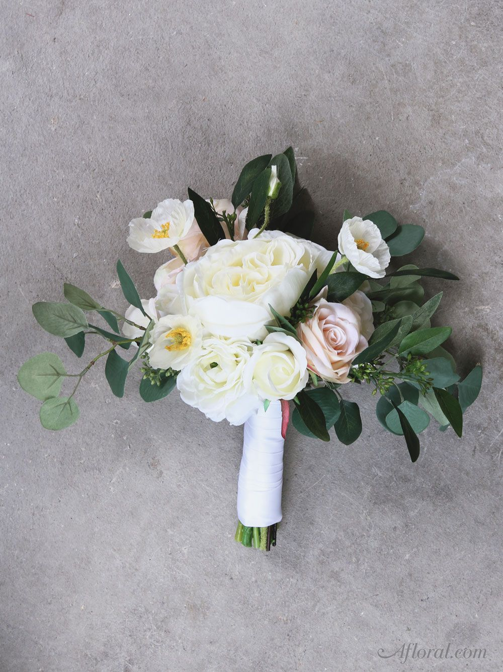 Silk Flower Wedding Bouquet. Make your own bridal bouquet with fake ...