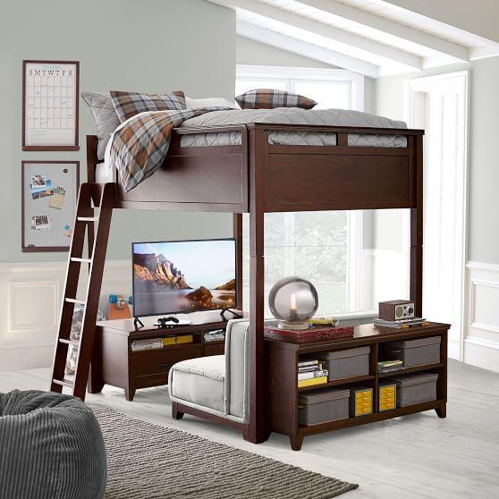Hampton Convertible Loft Bed Pbteen Diseno De Dormitorio Para