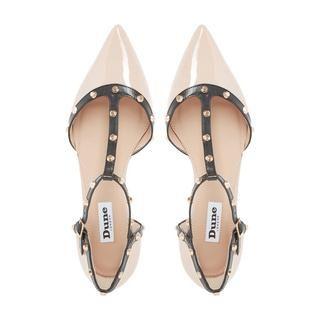 3f26612877 DUNE LADIES HETI - Stud Detail Pointed Flat Shoe - nude | Dune Shoes Online