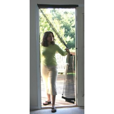Snavely Forest 38 In X 80 In Black Easy To Install Instant Screen Door With Hardware Included Ds83937 The Home Depot In 2020 Screen Door Instant Screen Door Portable Screen Door