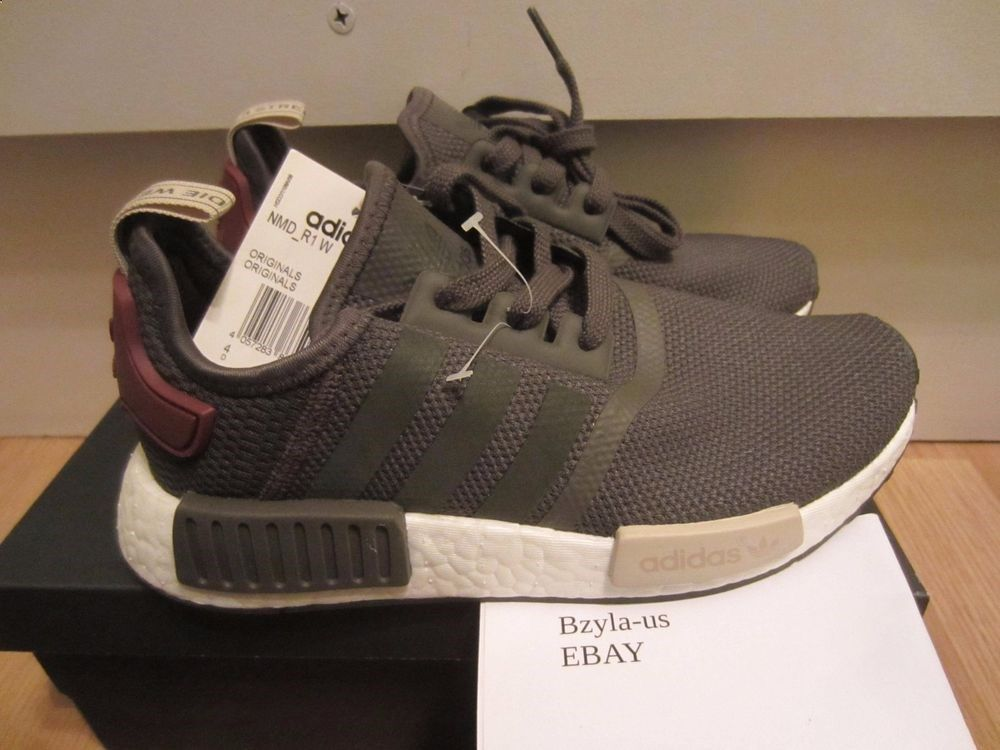 Brand 6 9 Women's Maroon Runner New Nomad Adidas Nmd R1 Boost Ba7752 D9EH2I
