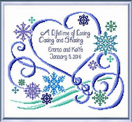 winter wedding wedding cross stitchwedding