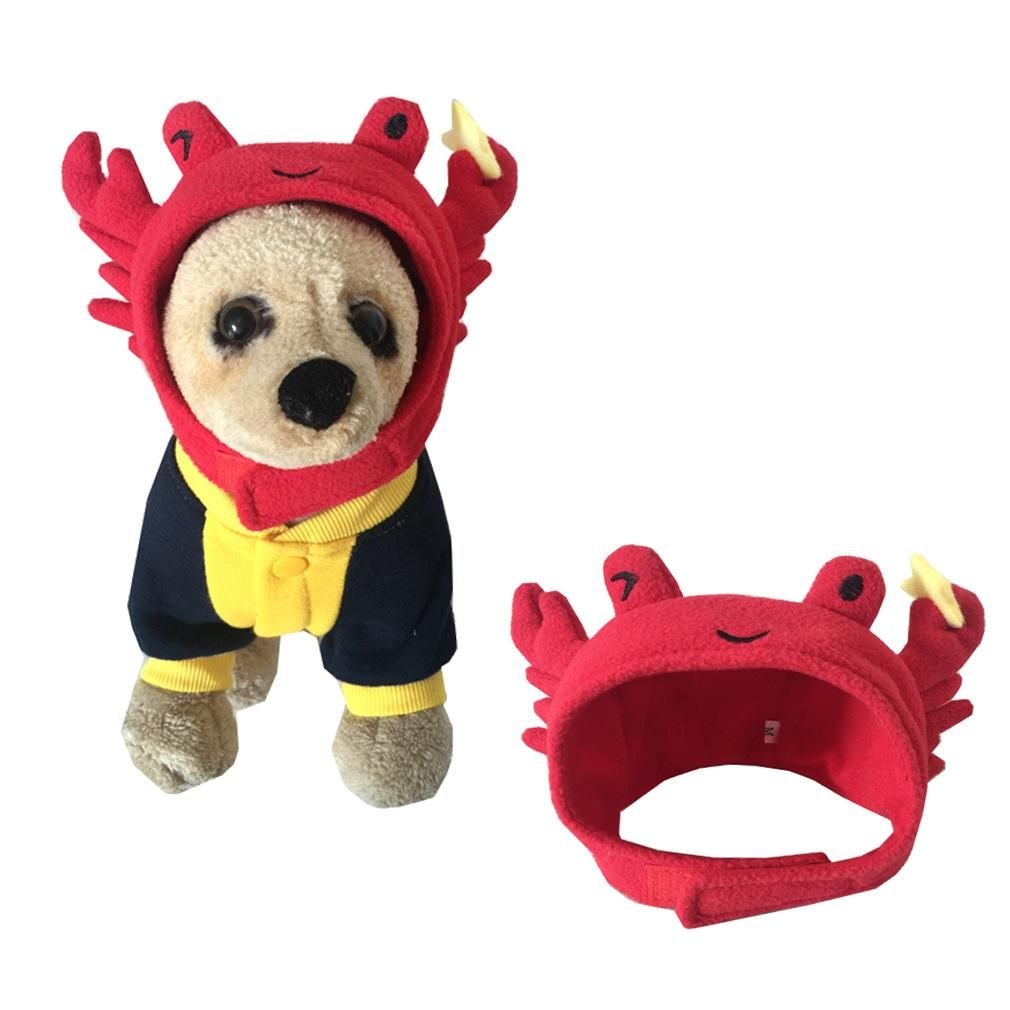 Pet Halloween Crab Shape Dog Costume Cap Lovely Hat For Cat And