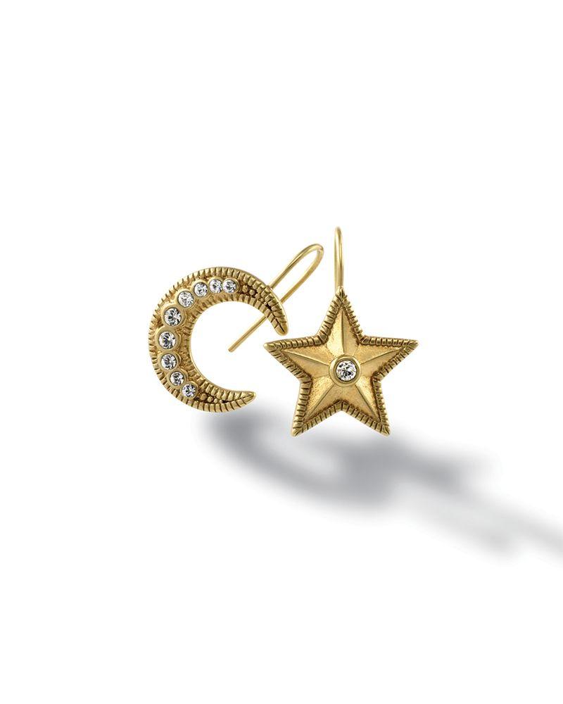 Vega Moon and Star Earrings