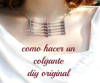 easy tutorial necklace como hacer un colgante diy paso a paso