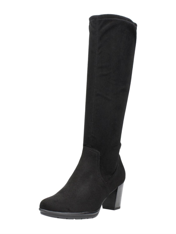 Lange laarzen zwart zilver | Laarzen | Nanne's Choice Mode