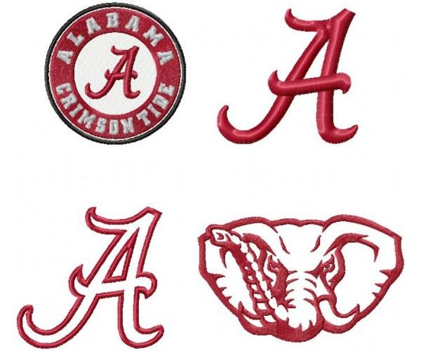 alabama crimson tide logo machine embroidery design for instant rh pinterest com University of Alabama Printable Logos alabama logo pumpkin stencil