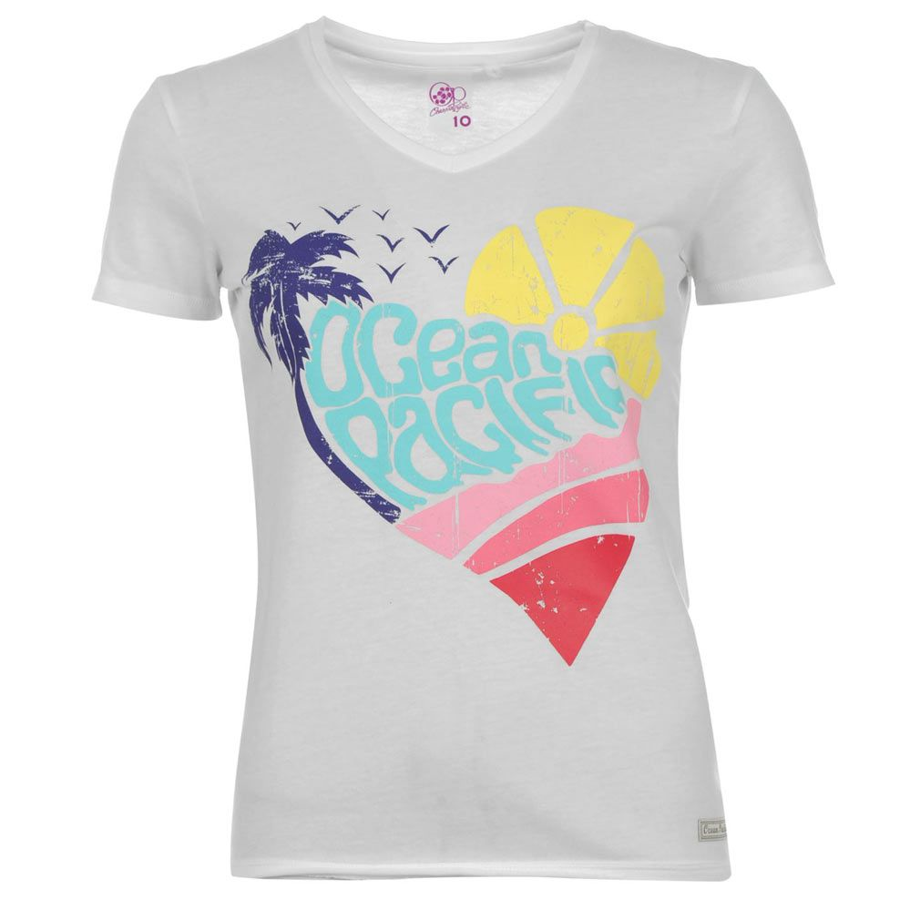 Ocean Pacific T-Shirt Ladies Heart Design « ecommerceleague.info