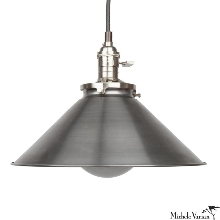 Funnel Retro Industrial Pendant Light Fixture Large 12 Inch In Steel Industrial Pendant Light Fixtures Pendant Light Fixtures Industrial Pendant Lights